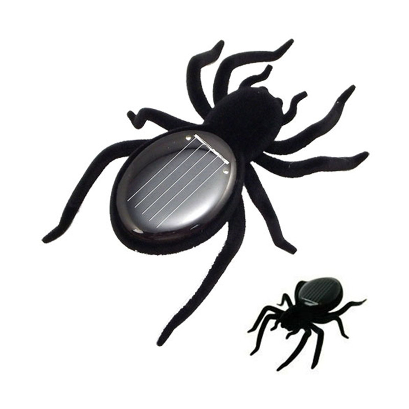 BS#S Solar Spider Tarantula Educational Robot Scary Insect Gadget Trick Toy Solar Toy Juegos Solares Kids Toy Robot Toy(China (Mainland))