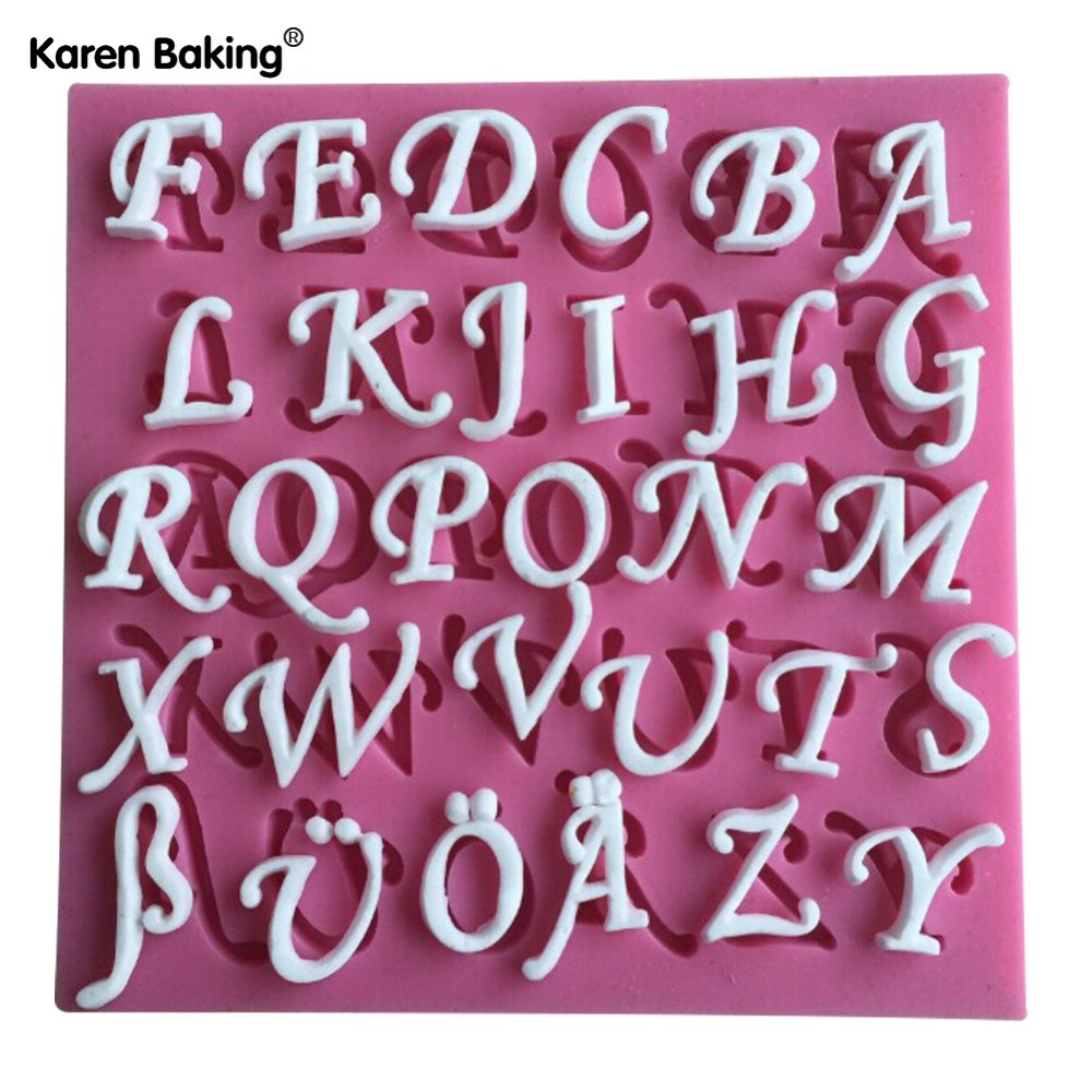 26 English Letters Silicone 3D Mold Cookware Dining Bar Non-Stick Cake Decorating Fondant Soap Mold-C446(China (Mainland))