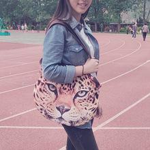 new women bag 3D Animal Printing one tiger Shoulder Bag bolsa feminina purse female bags womens over the shoulder bag