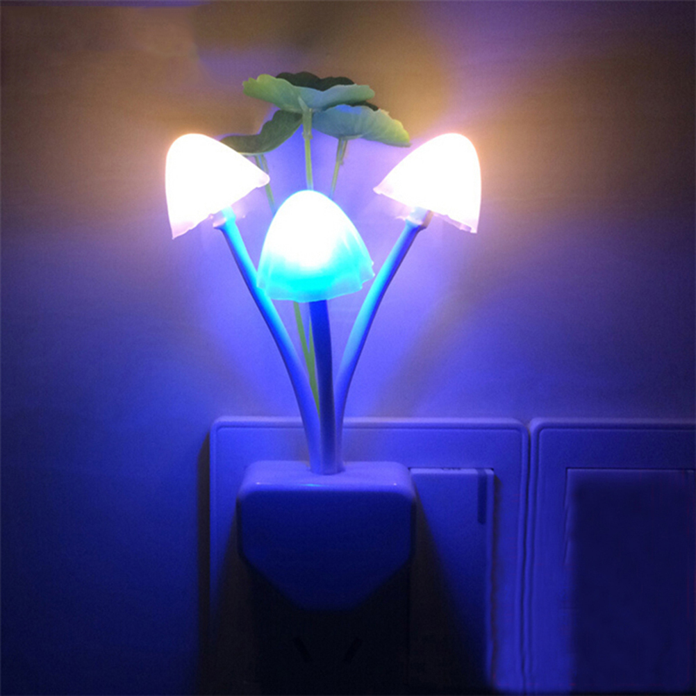 LED Wall Night Lights Mushroom Plants Style Sensor Lamp for Kids Sleeping(China (Mainland))