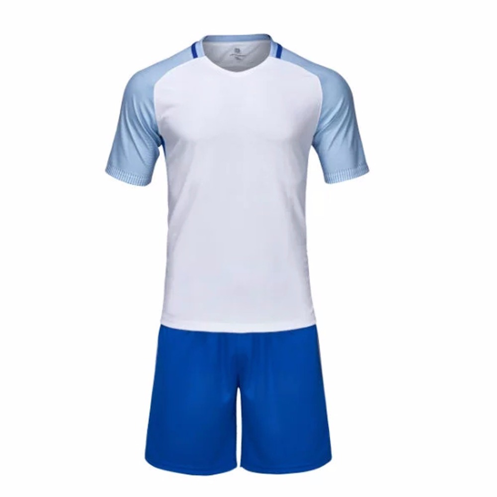 White football jerseys breathable soccer jerseys custom mens football jerseys boy sports wear jersey shirts youth teens ball kit(China (Mainland))