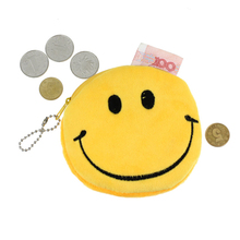 Excellent Quality Women's Coin Purse Fashion Women Girl Lovely Lady Small Emoji Smile Coin Purse Cute Bag Mini Wallets for Gift