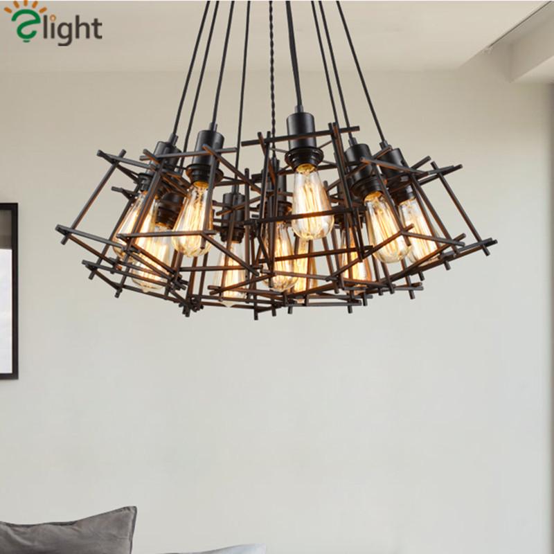 Italy Design Loft Vintage Iron Frame Edison Pendant Light European Pendant Light With Edison Bulbs(China (Mainland))