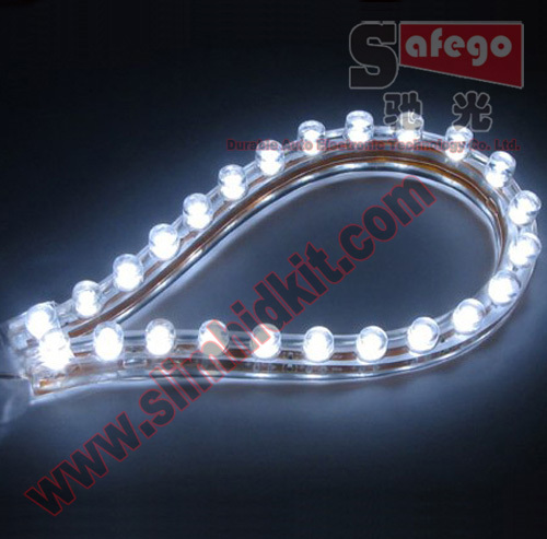 2pcs waterproof 12v flexible 24 led strips for motorcycle. Black Bedroom Furniture Sets. Home Design Ideas