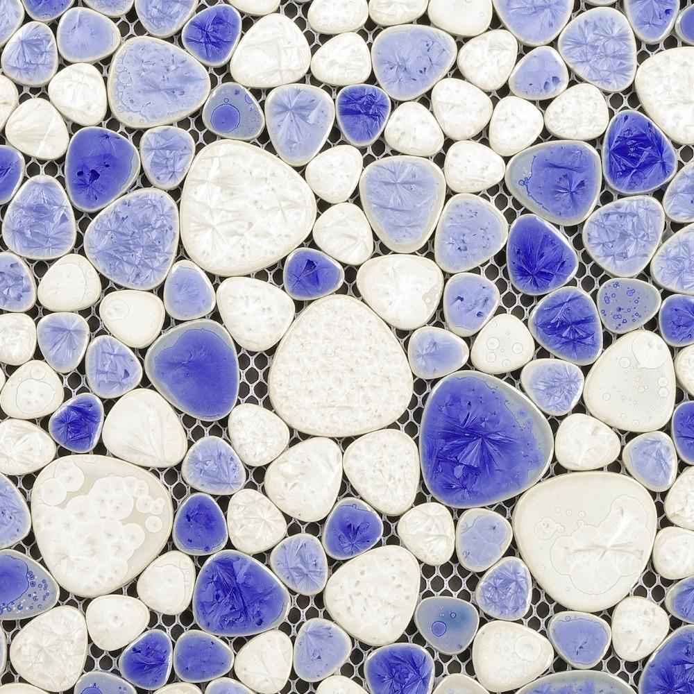 Pebble porcelain tiles bathroom flooring wall decor mosaics mirror tile backsplash shower floor tiles glazed ceramic tiles<br>