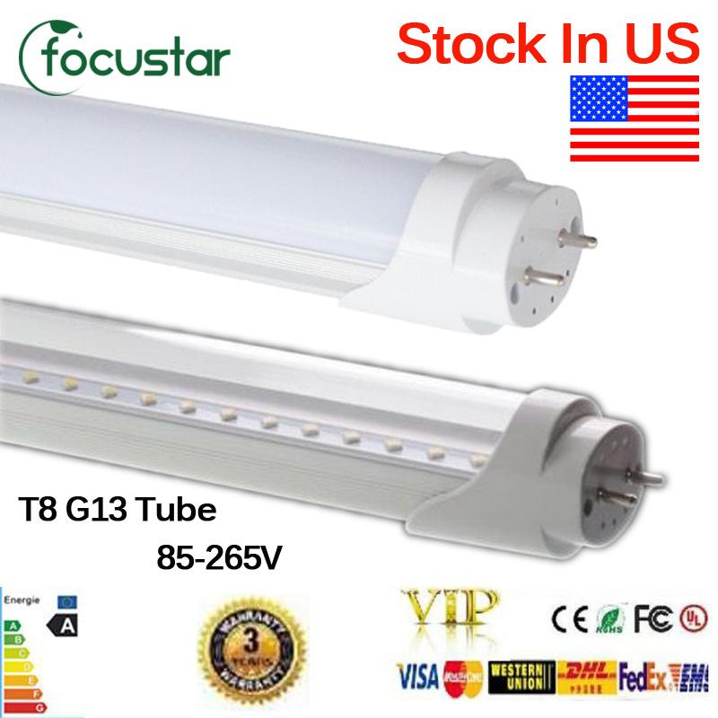 Stock in US+CE RoHS FCC UL 22W T8 Led Tube Lamp1200mm G13 base Led Bulbs SMD 2835 85-265V led Lighting lamp 2 years warranty(China (Mainland))
