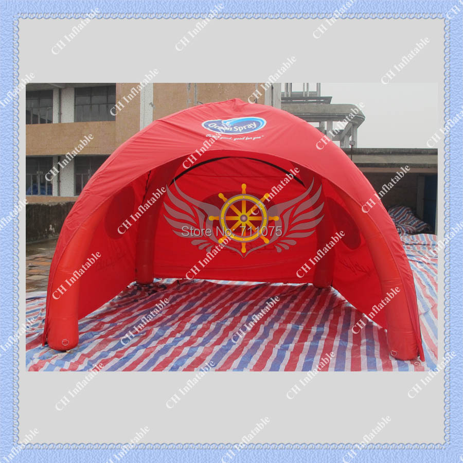 Red Inflatable Party Tent with Removable Side Panels Dome Tent for Events 3m by 3m DHL Free Shipping Air Pump Included(China (Mainland))