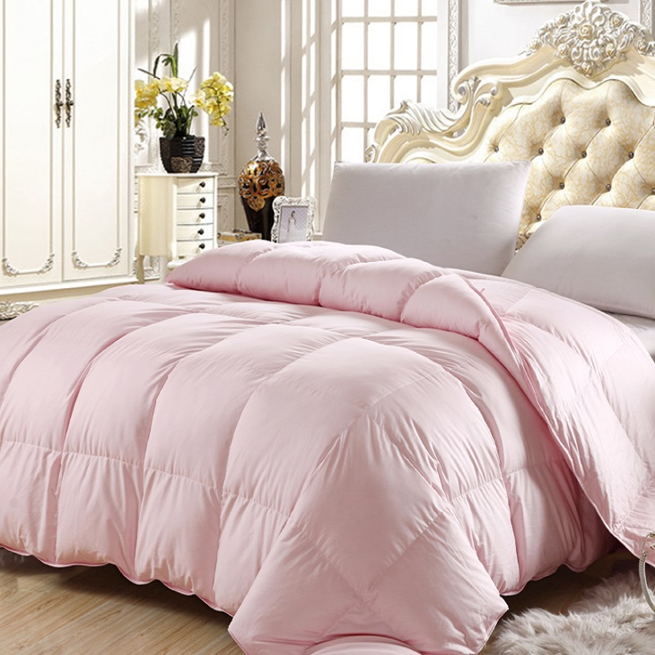 twin queen full king size pink color 50 goose down comforter 100 cotton 650 fill power in. Black Bedroom Furniture Sets. Home Design Ideas