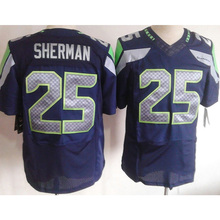 cheap sale #25 Richard Sherman #12 12th Fan #31 Kam Chancellor #3 Russell Wilson 89# baldwin College Navy Elite Stitched Logos(China (Mainland))