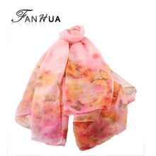 Fashion Chiffon Print Bohemian Scarves Wraps For Women New  Summer Designer Apparel Accessories(China (Mainland))