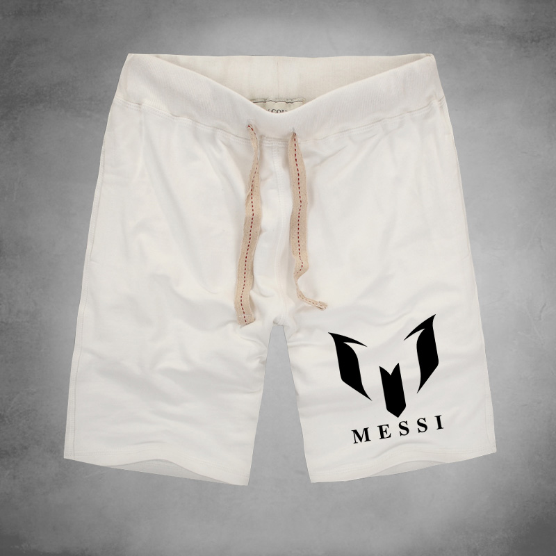 summer brand 100% cotton Barcelona MESSI Soccer Men shorts Man casual sport shorts Multiplayer Game Men football shorts(China (Mainland))