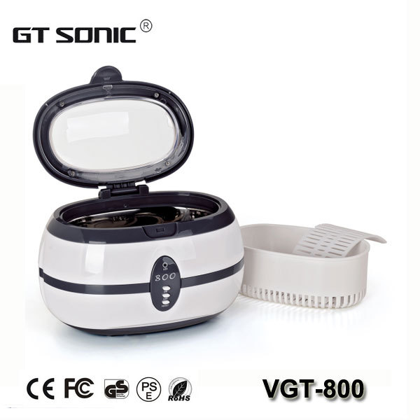 Household 600ml Mini Ultrasonic Jewelry Cleaner manufacture VGT-800(China (Mainland))