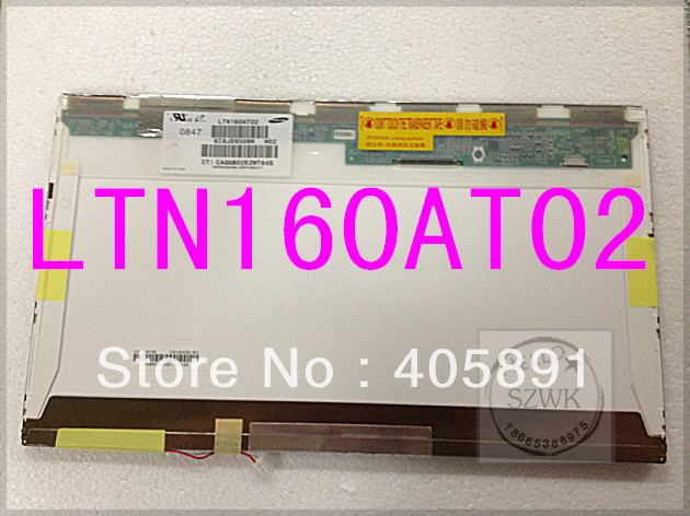 LTN160AT01 LTN160AT02 For HP CQ60 Asus X61S ACER Aspire 6930G 6920 6935 6935G Toshiba AX/53HPK Laptop LCD SCREEN(China (Mainland))