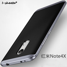 Buy I-sheeta Luxury Hybrid Case Xiaomi Redmi Note 4X Hard PC Frame+Silicone Protective Back Cover Case Xiaomi Redmi note4x for $3.59 in AliExpress store