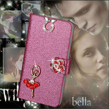 Buy Luxury PU Leather Wallet Case Nokia Lumia 730 735 Flip Cover Shining Crystal Bling Case Card Slot & Bling Diamond for $2.44 in AliExpress store