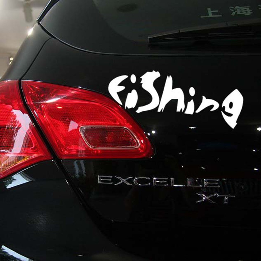 Funny Car Sticker Fishing Auto Decal Car Accessories Sticker for Tesla Toyota Chevrolet Volkswagen Hyundai Kia