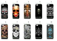 Mobile Phone Cases Wholesale 10pcs/lot Skull Design Protective White Hard Case For Iphone 5 5s Free Shipping