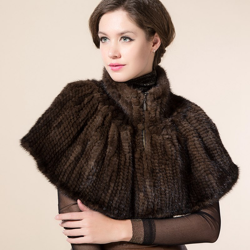 High Quality Genuine Mink Fur Shawl Female Real Fur Poncho Women Knitted Mink Fur Cape Wholesale Retail Free Size BF-P0040(China (Mainland))