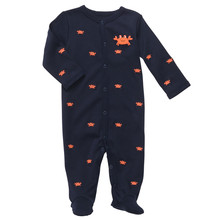 Carters 2015 brand baby clothing 100% cotton long-sleeves newborn baby boy clothes recem nascido black color cartoon NB rompers