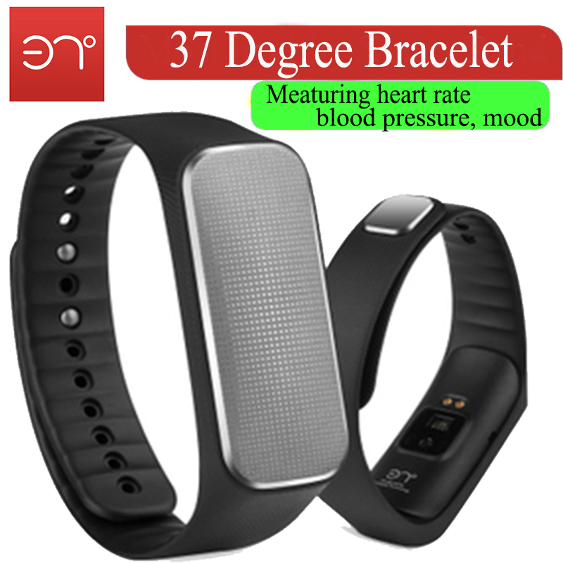 (Smart Life)2016 Health Tracker Smartband 37Degree Bracelet With Meaturing Heart Rate,Blood Pressure,Mood reloj pedometer(China (Mainland))