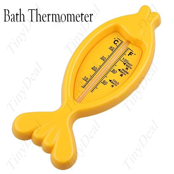 Lazydog Waterproof Floating Fish Shaped Bathtub Thermometer Water Sensor for Baby Bath Assorted Color HLI-10966(China (Mainland))