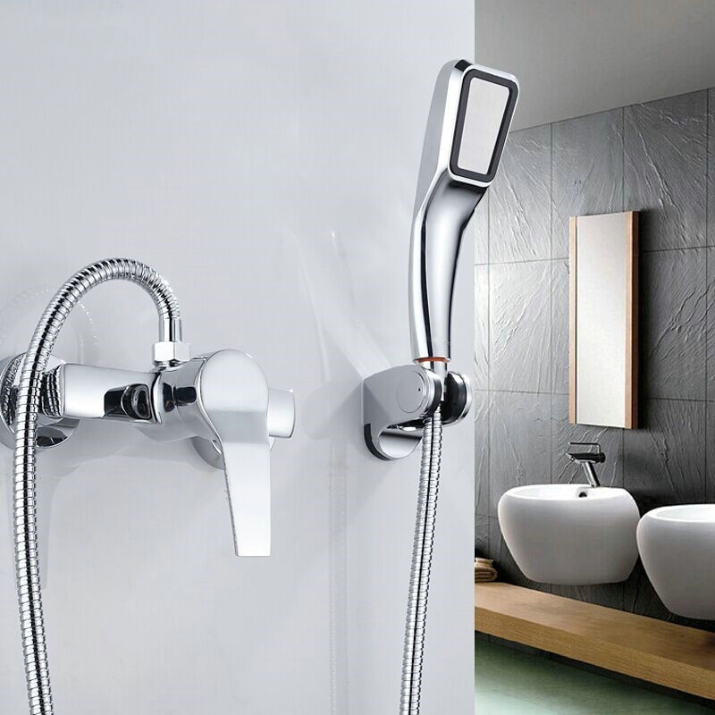 Simple Set Bathroom Shower Faucets Bathtub Faucet Mixer Tap With Hand Shower