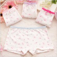2015 Children's cotton underwear female cartoon printed baby bunny girls underwear boxer briefs kids panties wholesale GU031(China (Mainland))
