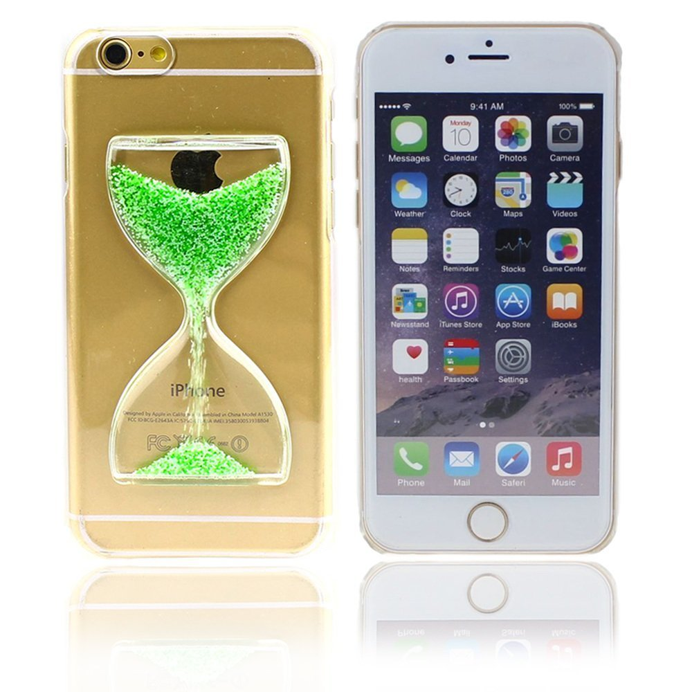 1PC Clear Sand Transparent Flowing Sand Pattern Liquid Case For iPhone 5 5s SE Hard Plastic Cell phone cases(China (Mainland))