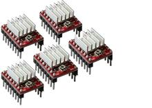 1pcs lot Reprap Stepper Driver pololu A4988 stepper motor driver module with aluminum heat sink for