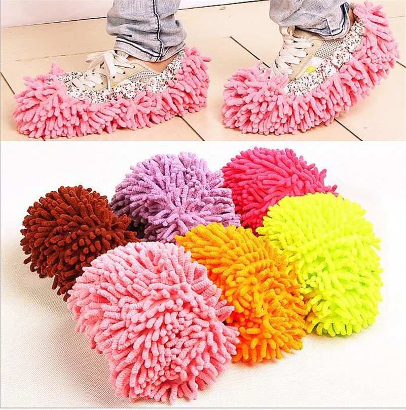 1PC Lazy Cleaning Foot Cleaner Shoe Mop Slipper Floor Dusting Cover Convenient Practical Home accessories B10(China (Mainland))