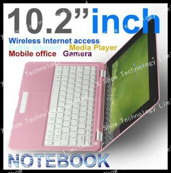 freeshipping  New arrival Brand New VIA8650  winCE6.0 android 2.2 10.2 inch wifi mini laptop camera Cheap Netbook