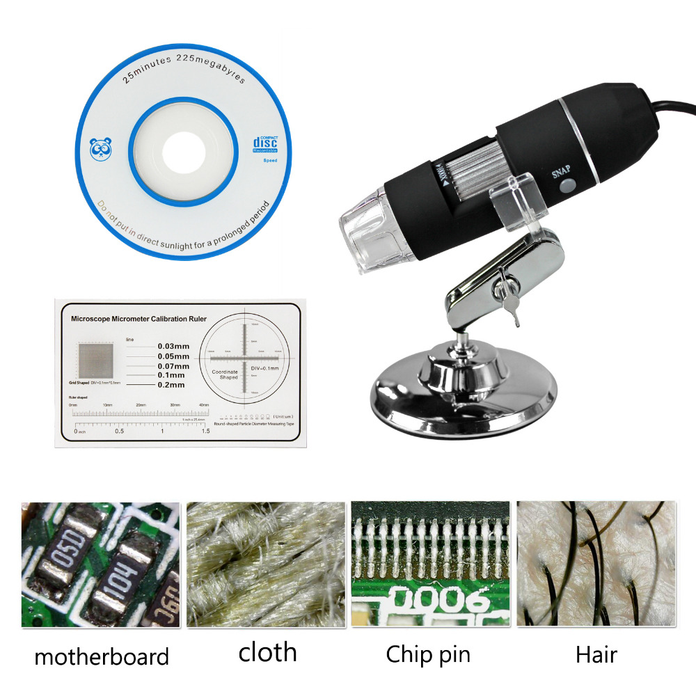 2016 New 8 LED Mega Pixels 1000X Digital Microscope HD USB Endoscope Camera Microscopio Magnifier(China (Mainland))