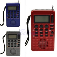 Free Shipping Portable Digital FM Radio Pocket Full Band Receiver LCD Display MP3 REC Player(China (Mainland))