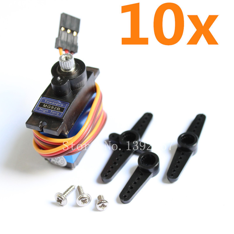 10pcs TowerPro MG92B Digital Servo Motor Metal Gear 3.5kg/cm High Torque Double Bearing For RC Model Airplane Helicopter Parts<br><br>Aliexpress