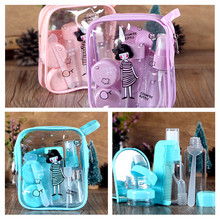 Portable Travel Cosmetics Bottling Suit Pressed Bottle Spray Skin Cream Bottles Containers Makeup Tool Sets with Mirror Comb(China (Mainland))