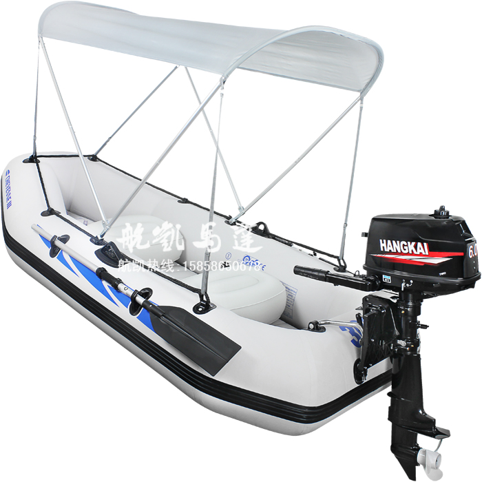 6.0 outboard four person fishing boat rubber boat inflatable boat assault boats with motor(China (Mainland))