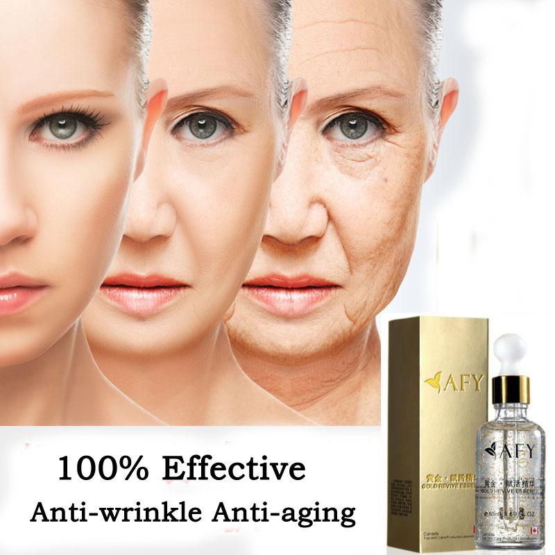 Super Anti Wrinkle Anti Aging Collagen 24k Gold Essence Skin Whitening Cream Moisturizing Face Care Hyaluronic Acid Liquid(China (Mainland))