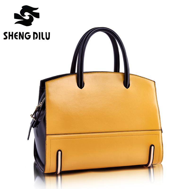 2015 new fashion women genuine leather handbag luxury lady elegant handbag grace personality female handbag free shipping(China (Mainland))