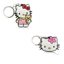 2 pçs/lote Olá Kitty Bonito Keychain Anel Chave Dos Desenhos Animados DO PVC Anime Figura Para Crianças Toy Pingente Chave Titular Moda Encantos bugiganga(China)
