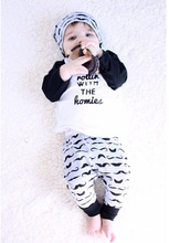 2016 autumnstyle infant clothes baby clothing sets boy girl Cotton baby household 2pcs/set long sleeve baby boy girl clothes