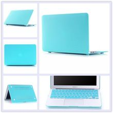 2in1 Sky Blue Matte Rubberized Hard Case Cover(11 colors)+Keyboard Cover For Apple Macbook Air 13 13.3 inch Free Shipping