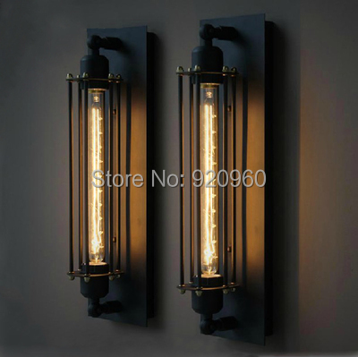 Loft American Village Industrial Iron Wall Lamp Edison Retro Wall Light Bar Cafe Aisle Lights<br><br>Aliexpress