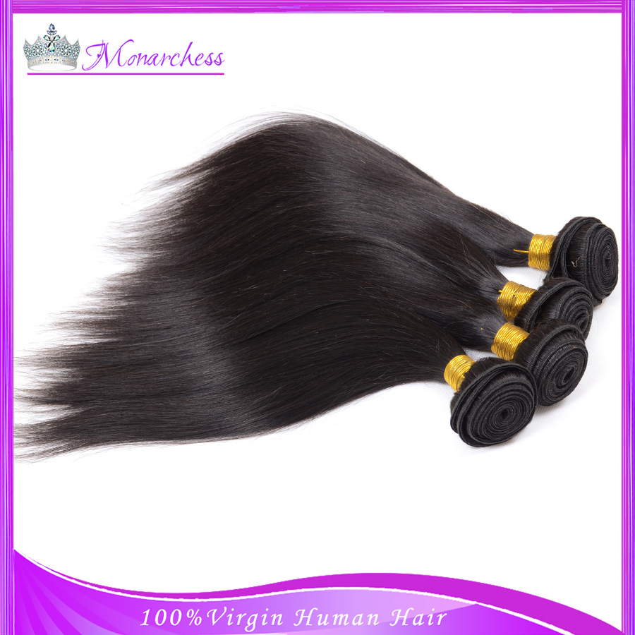 Remy Human Hair Brazilian Virgin Hair Straight Virgin Hair Quality Fastyle Brazilian Straigth Hair Weave 3 Bundles Natural Black(China (Mainland))