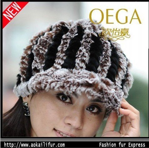 Free shipping! Fashion fur hats on hot selling! Real rex rabbit fur earflaps hat! wholesale/Distribute