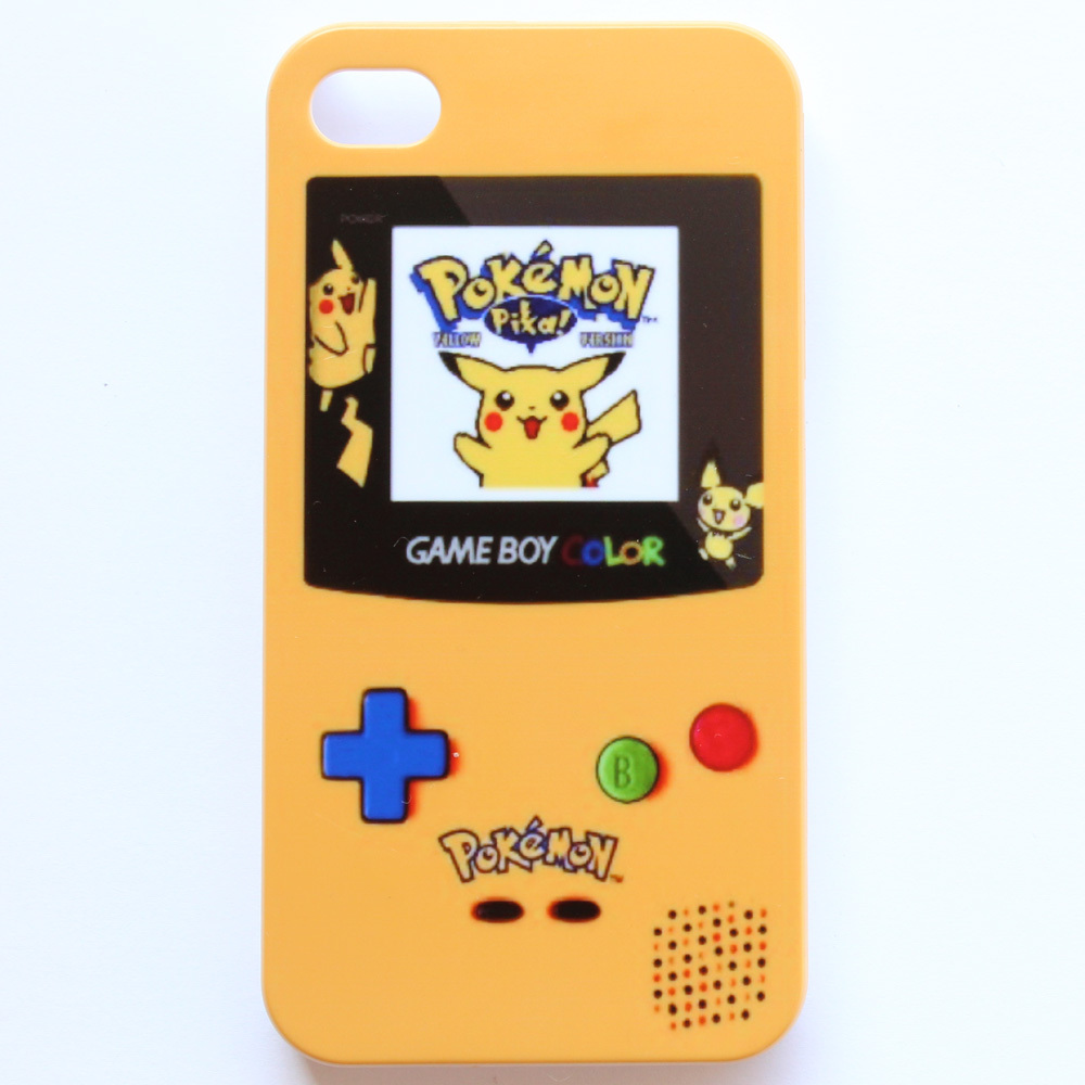 Pokemon GameBoy Game Boy Yellow Pattern Hard Back Cover Case For iPhone 4 4s(China (Mainland))