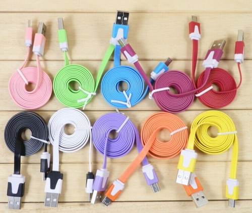 2M Flat Noodle Micro USB Data Sync Charger Micro usb Cable for Samsung Galaxy S4 S3 S6 /For HTC/ For Nokia/ Lenovo/ huawei(China (Mainland))