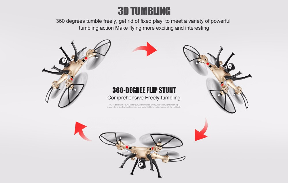 Syma X8HC With 2MP HD Camera 4CH 6Axis Fixed High Hover Headless RC Quadcopter RTF Quadrocopter Helicopter+2 Original Batteries