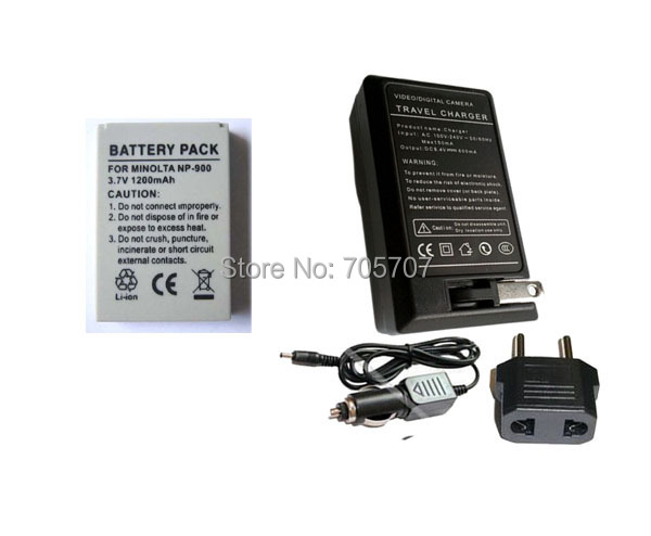 4 piece NP 900 NP900 Rechargeable Battery charger camera Dimage E40 X-36 T-100 T-110 - POP ENERGY (China store Co., Ltd)