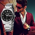 2016 New Eyki Men Women Business Gold Watch Stainless Steel Wrist Watches Luxury Brand Couple Watch