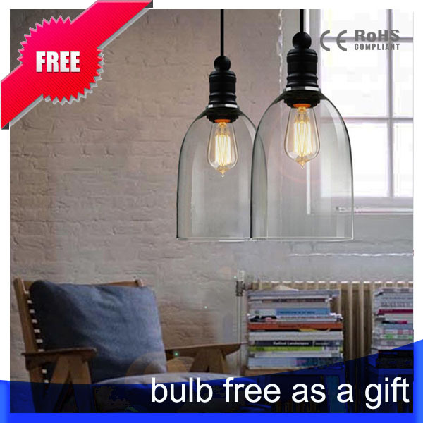 american country loft style light glass lampshade restaurant coffee shop bar counter pendant lamp e27 free american country loft style